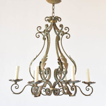 Iron chandelier typically found in French Country homes