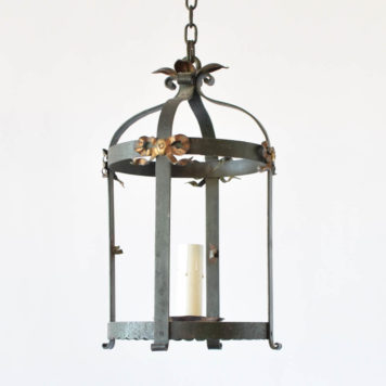 Vintage French lantern decorated with gilded French bows