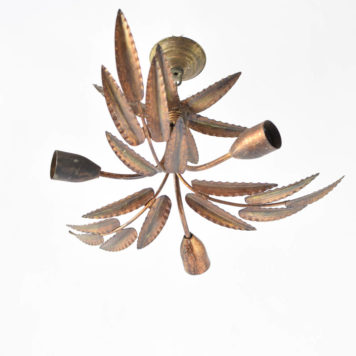Gilded iron leafy flush mount from Spain