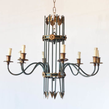 French chandelier in the form of a quiver of arrows with 8 arms