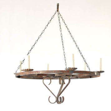Belgian iron ring chandelier
