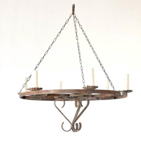 Belgian iron ring chandelier