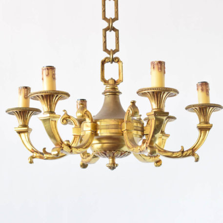 Mazarin style casted bronze chandelier from France or Belgium