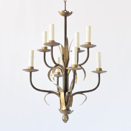 Gilded vintage Spanish chandelier